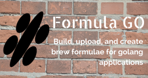 Build, upload, and create brew formula for golang application.